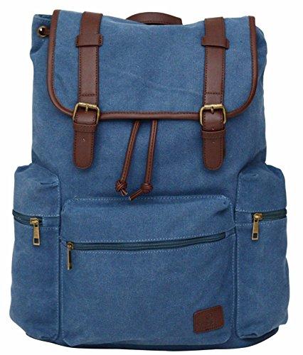 Unisex Rucksack aus Canvas im Retro-Design - Wanderrucksack