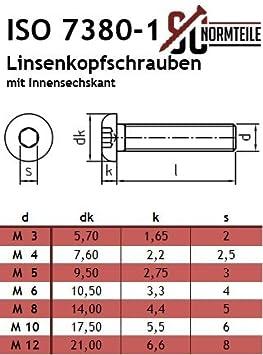 Linsenkopfschrauben Mit Innensechskant Isk M4x30 10 Stück Iso 7380 1 Rostfreier Edelstahl A2 V2a Vollgewinde Flachkopfschrauben Sc7380 1 Baumarkt