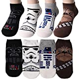 Star Wars Charakter Herren Knöchel Socken mit Beutel Packung mit 4 Paaren - Darth Vader, Stormtrooper, R2-D2, Chewbacca Sneakersocken