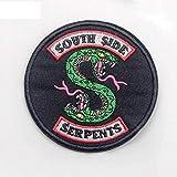 Parches termoadhesivos de las Serpientes del Sur de Riverdale