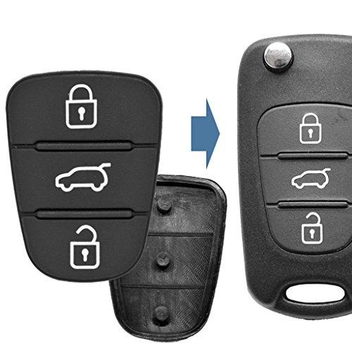 2X Auto Schlüssel Funk Fernbedienung Tastenfeld 3 Tasten kompatibel mit Hyundai/Kia