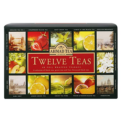 Ahmad Tea Twelves Teas (Pack of 1, Total 60 Enveloped Tea Bags)