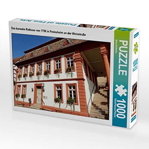 CALVENDO Puzzle Das barocke Rathaus von 1750 in Freinsheim an der Weinstraße 1000 Teile Lege-Größe 64 x 48 cm Foto-Puzzle Bild von Ilona Andersen