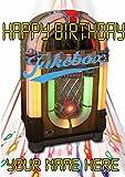 Jukebox cptmi105Happy Birthday A5personalisierbar Grußkarte geschrieben von uns Geschenke für alle 2016von Derbyshire UK