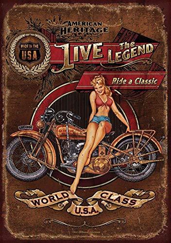 NOT Harley Davidson Heritage Placa de Cartel de Chapa Vintage Retro Cartel de Advertencia de Pared de Hierro Decoración para Bar Cafe Shop Home Garage Office Hotel