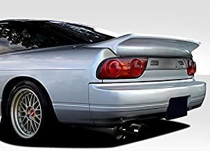 Extreme Dimensions Duraflex Replacement for 1989-1994 Nissan 240SX S13 HB Wangan V2 Wing Trunk Lid Spoiler - 1 Piece