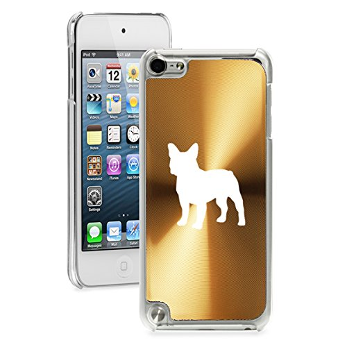 for Apple iPod Touch 5th / 6th Generation Hard Back Case Cover French Bulldog (Gold)