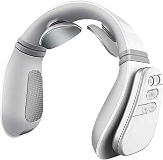 Jiayaofu Electric Neck Massager with Heating Function, Wireless 3D Travel Neck Massage Equipment, Muscle, Shoulder, Cervical Pain Relief