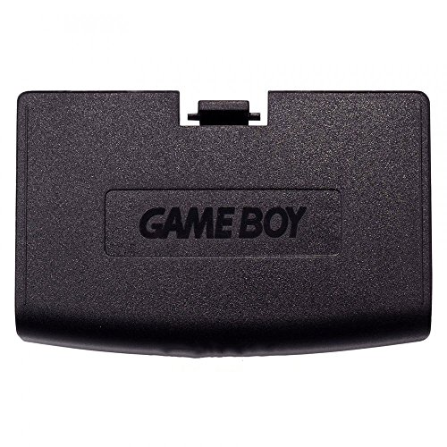 Plastic Battery Cover Door Part for Game Boy Advance GBA Black Color