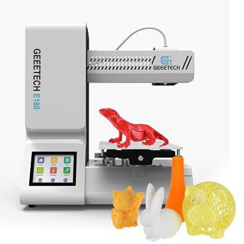"""Geeetech E180 Impresora 3D de Alta Precisión Totalmente Ensamblada con Control Remoto WiFi Incorporado Pantalla Táctil a Todo Color de 3.2"""""""