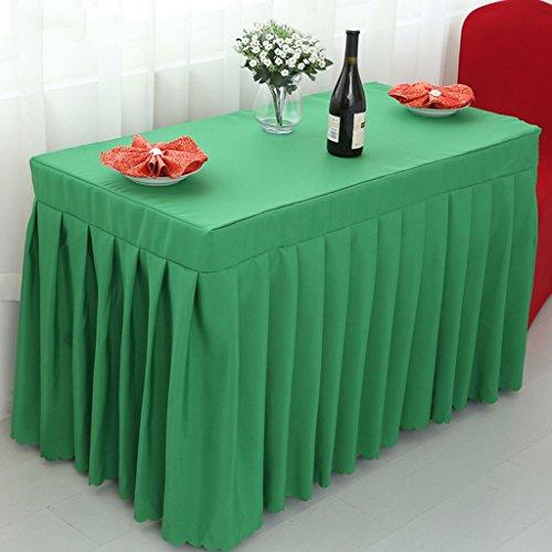 Nappes Ensemble de banquet de mariage en coton à la jupe de table ajusté avec toillette supérieure - vert ( Couleur : Vert , taille : 50*120*75CM )