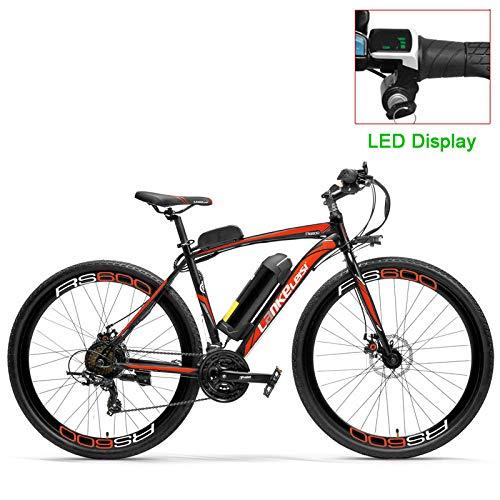 RPHP600 Potente Bicicleta eléctrica 36V 20A batería Bicicleta eléctrica 700C Bicicleta de Carretera Doble Freno de Disco Marco de aleación de Aluminio Bicicleta de montaña
