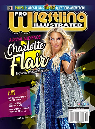 Pro Wrestling Illustrated: October 2020 Issue-Charlotte Flair Hotseat, PWI Poll, MJF, Aleister Black, Thunder Rosa, Nick Gage, Willie Mack (English Edition)