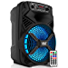 """Portable Bluetooth PA Speaker System - 300W Rechargeable Outdoor Bluetooth Speaker Portable PA System w/ 8"""" Subwoofer 1"""" Tweeter, Microphone in, Party Lights, MP3/USB, Radio, Remote - Pyle PPHP836B (Renewed)"""