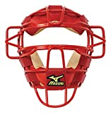 Mizuno Classic Baseball Catcher's Mask, Red