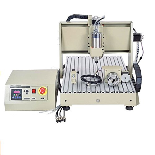 4 Ejes 3040 CNC Router Engraver Máquina de grabado Engraving Grabador Perforación Fresadoras 800w