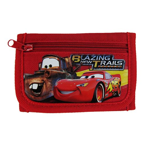 Officially Licensed Disney Pixar Cars Closure Tri Fold Wallet - Lightning McQueen and Tow Mater