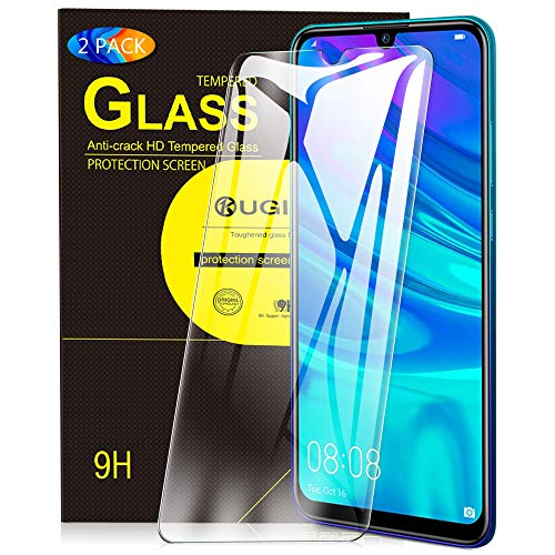 KuGi. para Huawei P Smart 2019 Protector de Pantalla, Cristal Templado [9H Dureza] [Alta Definicion] Protector de Pantalla Diseñado para Huawei P Smart 2019 (Paquete de 2)