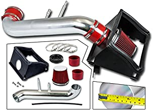 Cold Air Intake System with Heat Shield Kit + Filter Combo RED Compatible For 15-19 Compatible Ford F150 5.0L V8