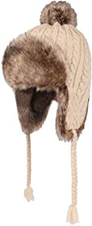 Markcur Womens Winter Hat with Ear Flaps Windproof Winter Trapper Hat Unisex
