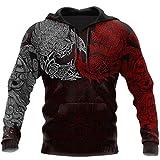 Viking - Ravens Of Midgard Red 3d All Over Printed Hoodie Unisex 3d Print Design Pullover Pocket