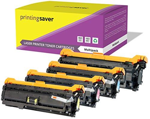 Printing Saver 4 Premium Toner kompatibel zu CE250X (504X) CE251A CE252A CE253A (504A) für HP Color Laserjet CM3530 CM3530FS MFP CP3520 CP3525 CP3525DN CP3525DX CP3525N CP3525X CP3530 CP3530FS