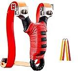 SEEWAY Slingshot, Professional Wrist Rocket SlingShots Set, High Velocity Powerful Sling Shots for Hunting, Adult Outdoor Stainless Steel Pocket Shooting Slingshot, High Velocity Catapult