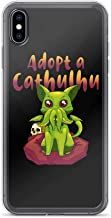 Compatible for iPhone Xs Max Adopt a Cathulhu Funny Cartoon Comic