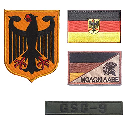 Parche bordado con bandera de Alemania GSG -9 emblema alemán espartano casco moral