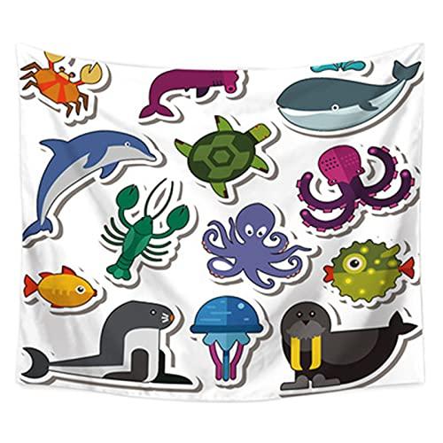 YYRAIN Tapiz Animal Impreso Toalla De Playa Multifuncional Hotel Café Colgante De Pared Decoración del Hogar Ropa De Cama 92.51x70.86 Inch{235x180cm} E