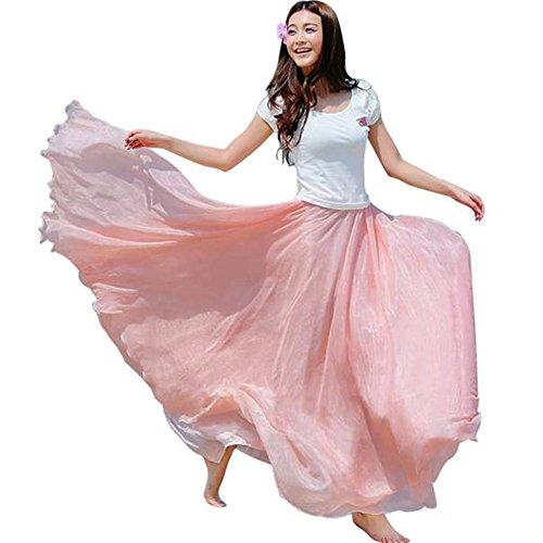 PinkLu Röcke Chiffon-Strandrock Der Frauen Mode BöHmischer Stil GüNstig Elegant HüBsch Urlaub Am Meer Neuer HeißEr 11 Farbkleider
