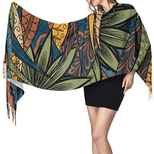 Moda ordenada Pintura de dibujos animados lindo Bufanda divertida Mujer Bufanda de cachemira Bufandas de cachemira de invierno para mujeres 77x27 pulgadas / 196x68cm Pashmina suave grande extra cáli