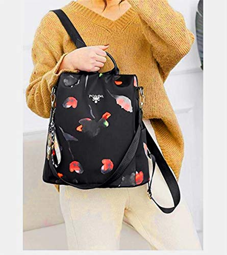 SPEEDEVE Mochila para Mujer (Rojo-Mariposa)