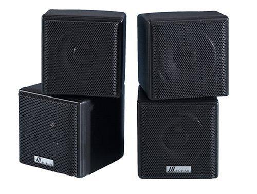 """JA Audio 3.5"""" Mini Cube Speakers - Black (Pair)"""