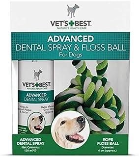 Vet's Best Advanced Dental Spray & Floss Ball For Dogs 120ml