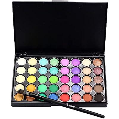 Amazon - Save 80%: Cosmetic Matte Eyeshadow Cream Makeup Palette Shimmer Set 40 Color+ Bru…