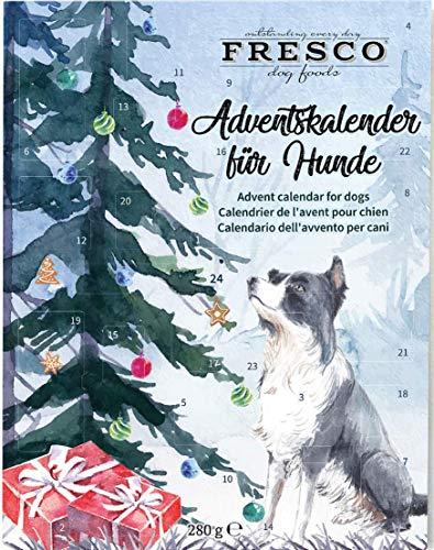 Fresco Adventskalender für Hunde 2020 (Weihnachtsbaum) - Enthält Hundeleckerli & Hundesnacks UVM. - Für Deinen Hund - Für die Advents-Zeit
