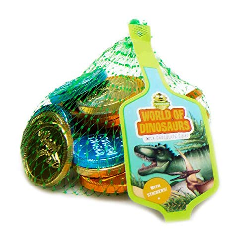 World of Dinosaur Milk Chocolate Coins - 50g