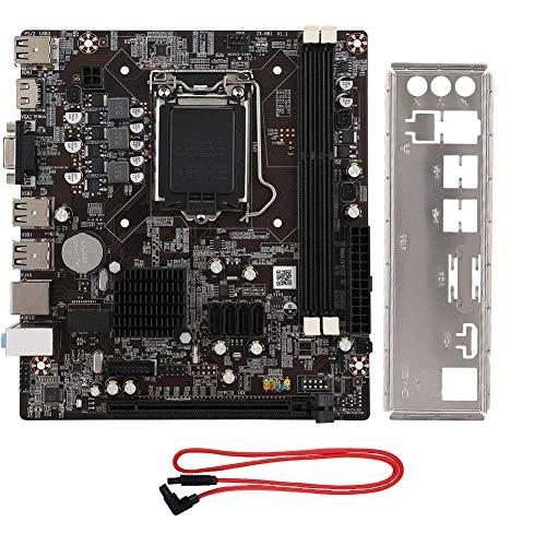 Tangxi Scheda Madre Desktop per Intel H81, CPU per Intel Lag 1150 2 * DDR3 1600/1333/1066Mhz Memoria 1 * Scheda Madre PCI-E × 16 con HDMI SATA 2.0 USB 2.0 Supporto VGA + HDMI Doppia Uscita