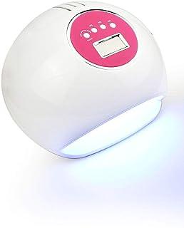 Lámpara de uñas LED Gel Profesional UV Esmalte de uñas lámpara eficiente secador de uñas profesional con Smart AutoSensing de ultrarápido de curado UV Segura conveniencia 72w / LED de luz de sincroniz