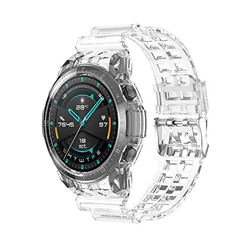 BoLuo Correa para Huawei Watch GT2 46MM,Bandas Correa Repuesto,Correas Reloj,Transparente Silicona Reloj Recambio Brazalete Correa Repuesto Strap Wristband para Huawei Watch GT2 46MM Watch (claro)