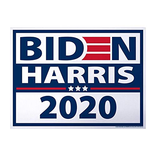 Biden Yard Sign Garden Insert Card UV and Weather Resistant Large Corrugated Plastic Yard Sign