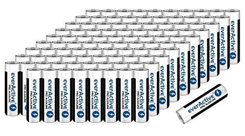 Batterien Mignon AA LR6 Alkaline Vorratspack 120 Stück everactive Markenqualität
