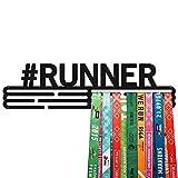 United Medals #Runner Medalla Percha   Acero Recubierto de Polvo Negro (43cm / 48 Medallas) Soporte para Medallas Deportivas