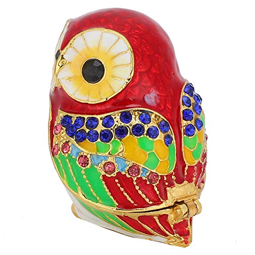 Jewelry Box Trinket Box Enameled Painted Ornaments Alloy Metal Crafts Storage Beads Friends Pendants Gift for Family Storing Pearls