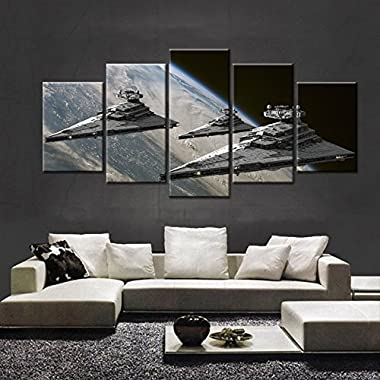 Premium Quality Canvas Printed Wall Art Poster 5 Pieces / 5 Pannel Wall Decor Movie Poster-2 Painting, Home Decor Pictures - With Wooden Frame