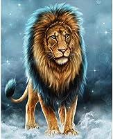 4000個のジグソーアート、大人のジグソーパズル、完璧に組み立てられたジグソーパズル、楽しい家族のパズル(大きなライオンを描く)