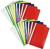 com-four® 20x Schnellhefter DIN A4 - Hefter mit Beschriftungsstreifen -