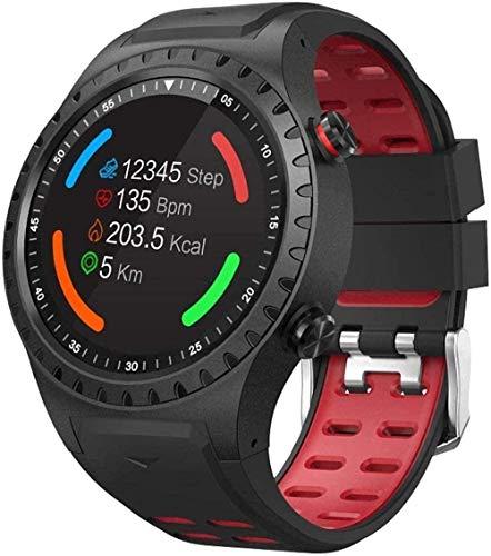 Smart Watch 1 3  Card Sport Smart Watch Posizionamento GPS Outdoor Meteo Altitudine Bussola Impermeabile Orologio Sportivo per Android e Ios-Rosso-Nero