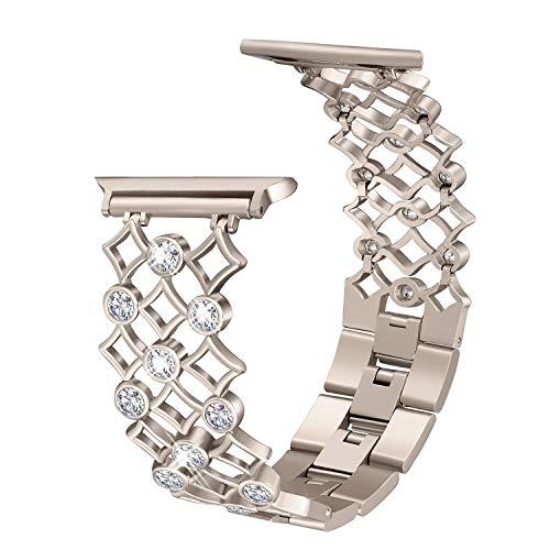 Aottom Kompatibel für Apple Watch Series 5 Armband 40mm Damen Metall Glitzer,Armband Apple Watch Series 4 40mm Edelstahl Armbänder iWatch 38mm Series 3 Ersatzband Uhren Band für Apple Watch 5/4/3/2/1